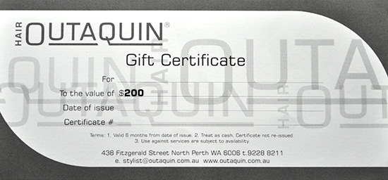 Outaquin Gift Certificate $200