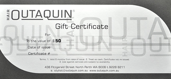 Outaquin Gift Certificate $50